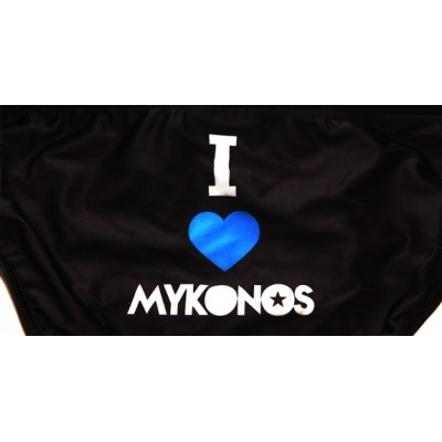 i love mykonos black swim brief