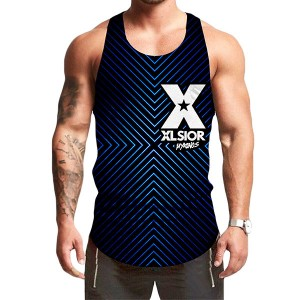 9th EDITION STRIPES BLACK TANK TOP