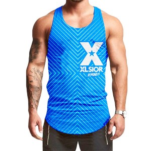 9th EDITION STRIPES BLUE TANK TOP